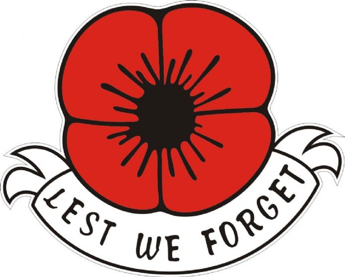 "Poppy Car Window Sticker ""Lest We Forget"""